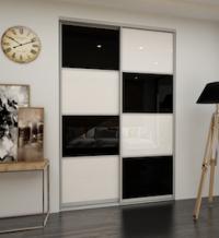 Дверь-купе со стеклом (White/Black)